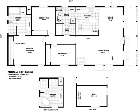modular home floor plans arizona luxury floor plan stf 1600a santa fe durango homes
