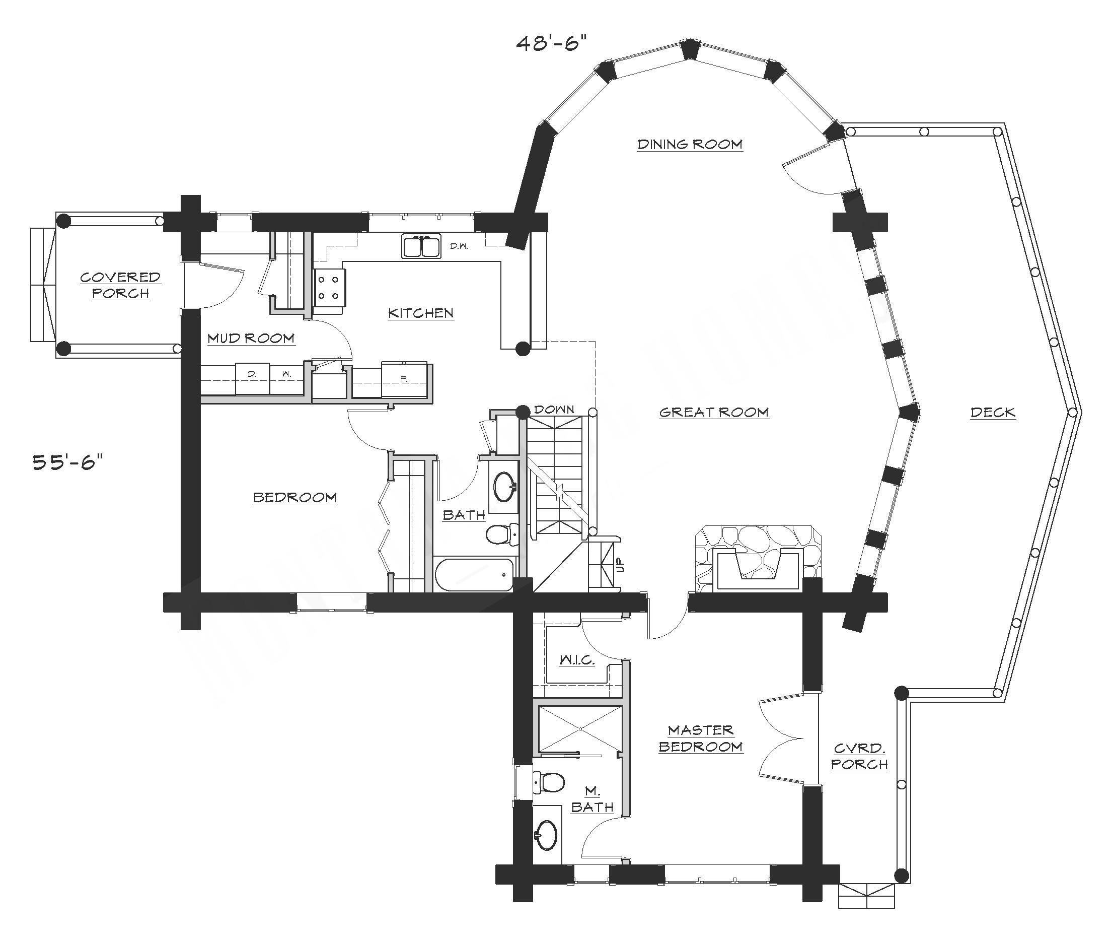 montana log homes floor plans