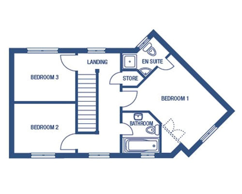 3 bed house 131659