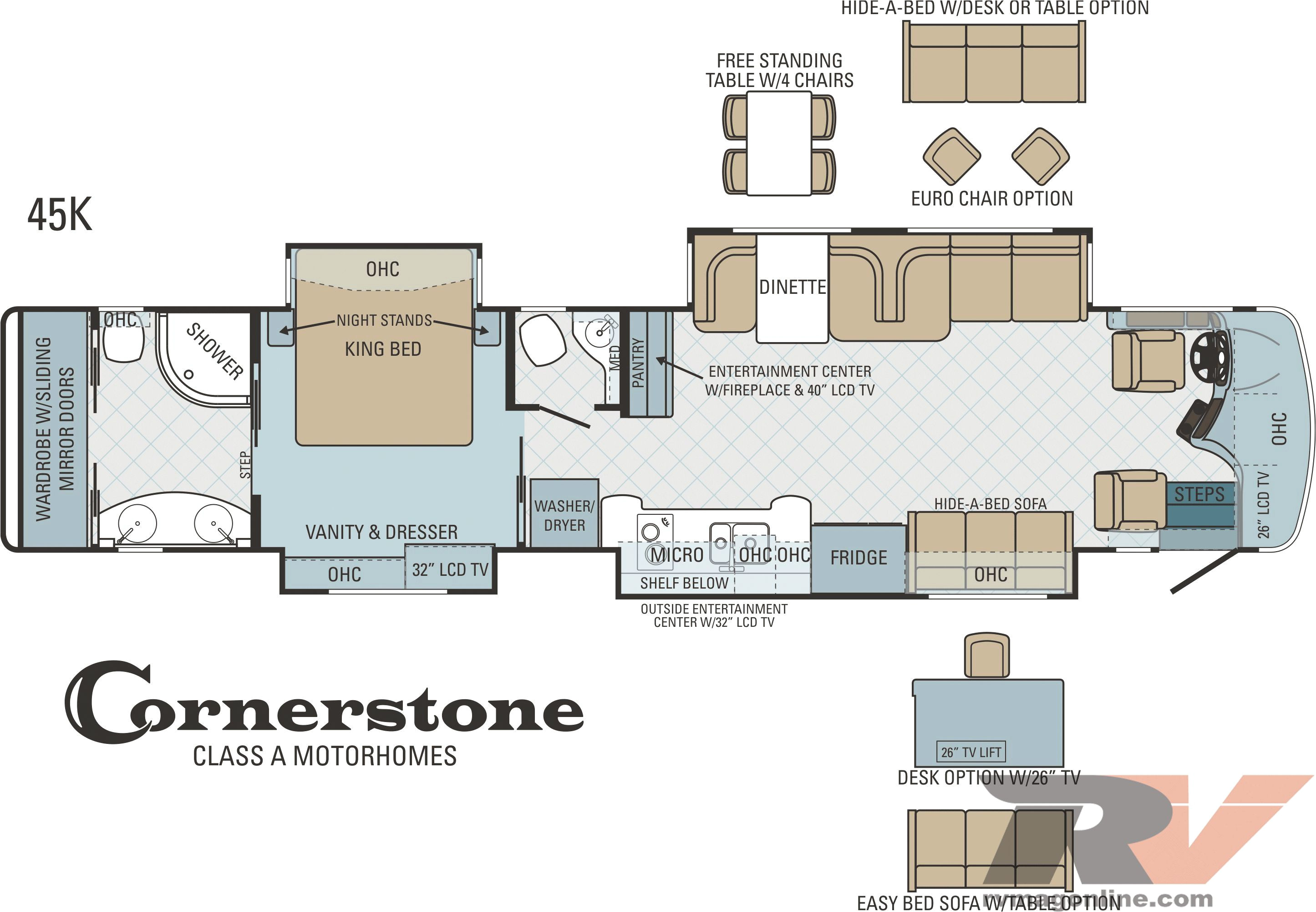 Motor Home Plans 2013 Entegra Cornerstone 45k Motorhome Overview Rv