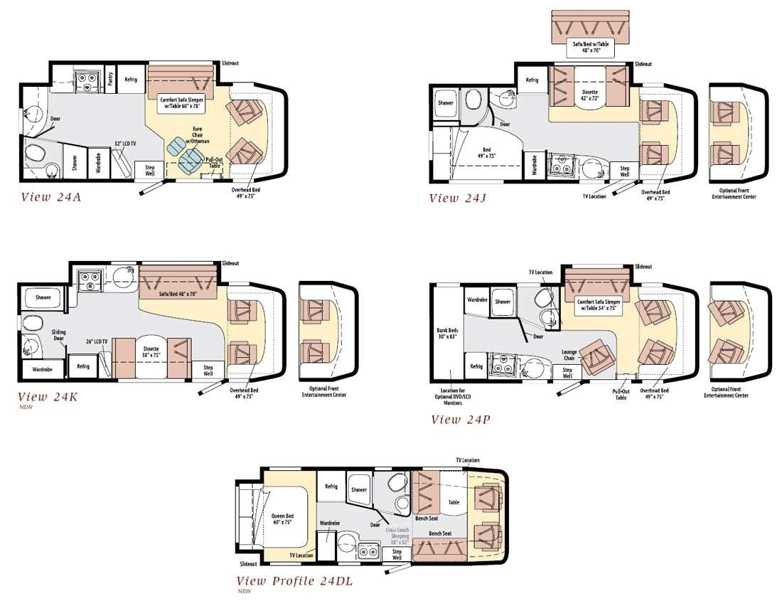 8010 winnebago class c motorhome floor plans