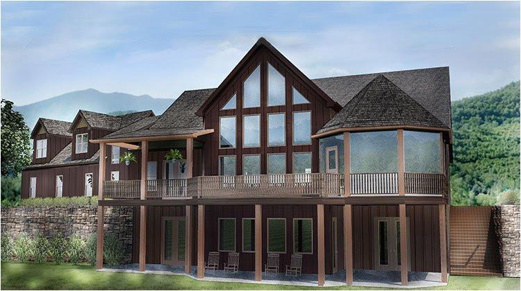 rustic mountain house plan 2 car garage