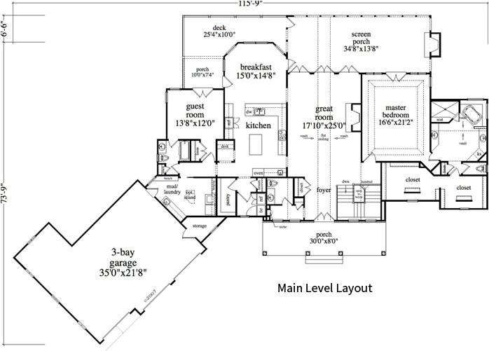 Mountain Homes Floor Plans 2 Bedroom 2 Bath Cabin Lodge House Plan Alp 0a1u