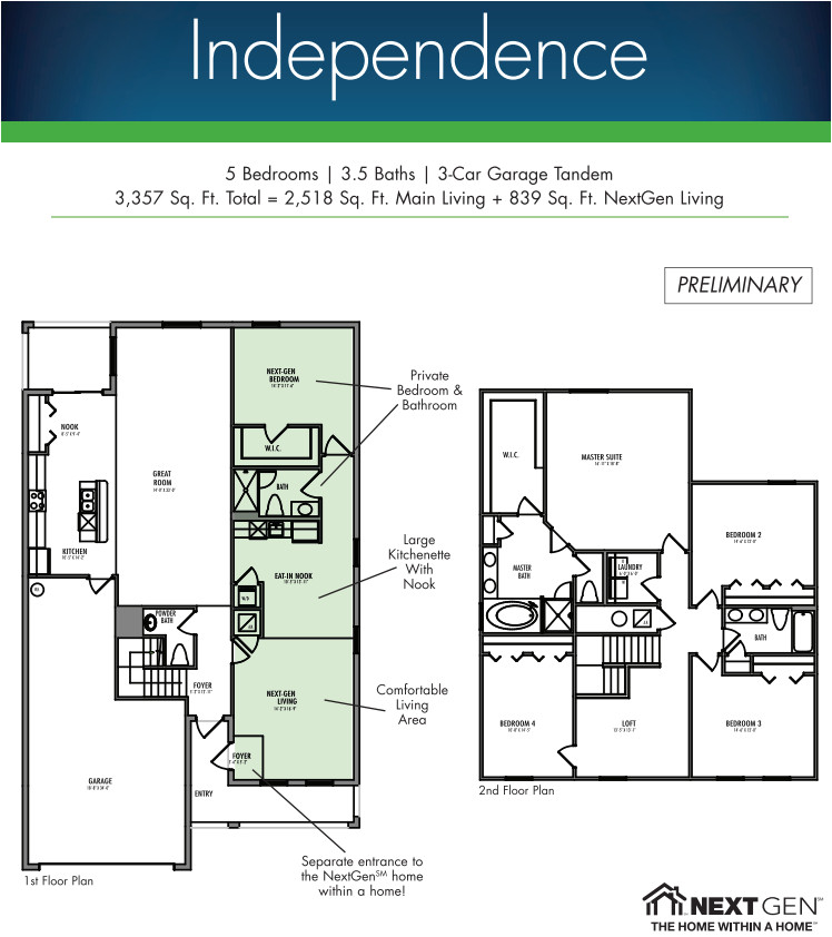 multi generation family home plans