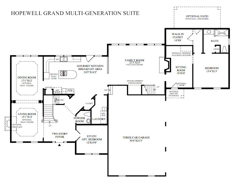 multi generation family home plans
