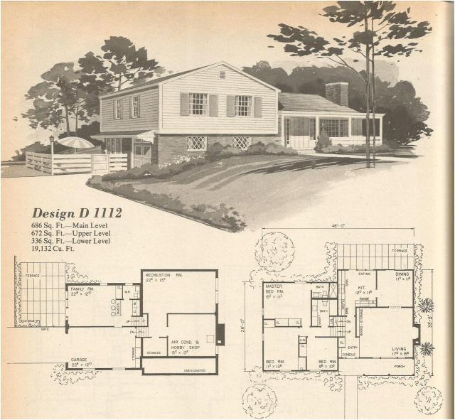 vintage house plans multi level homes part 2