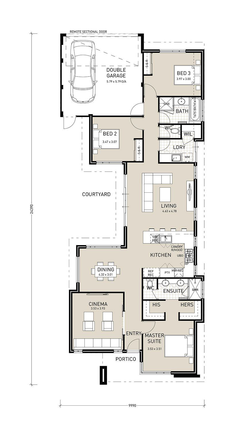narrow house plans with garage in front