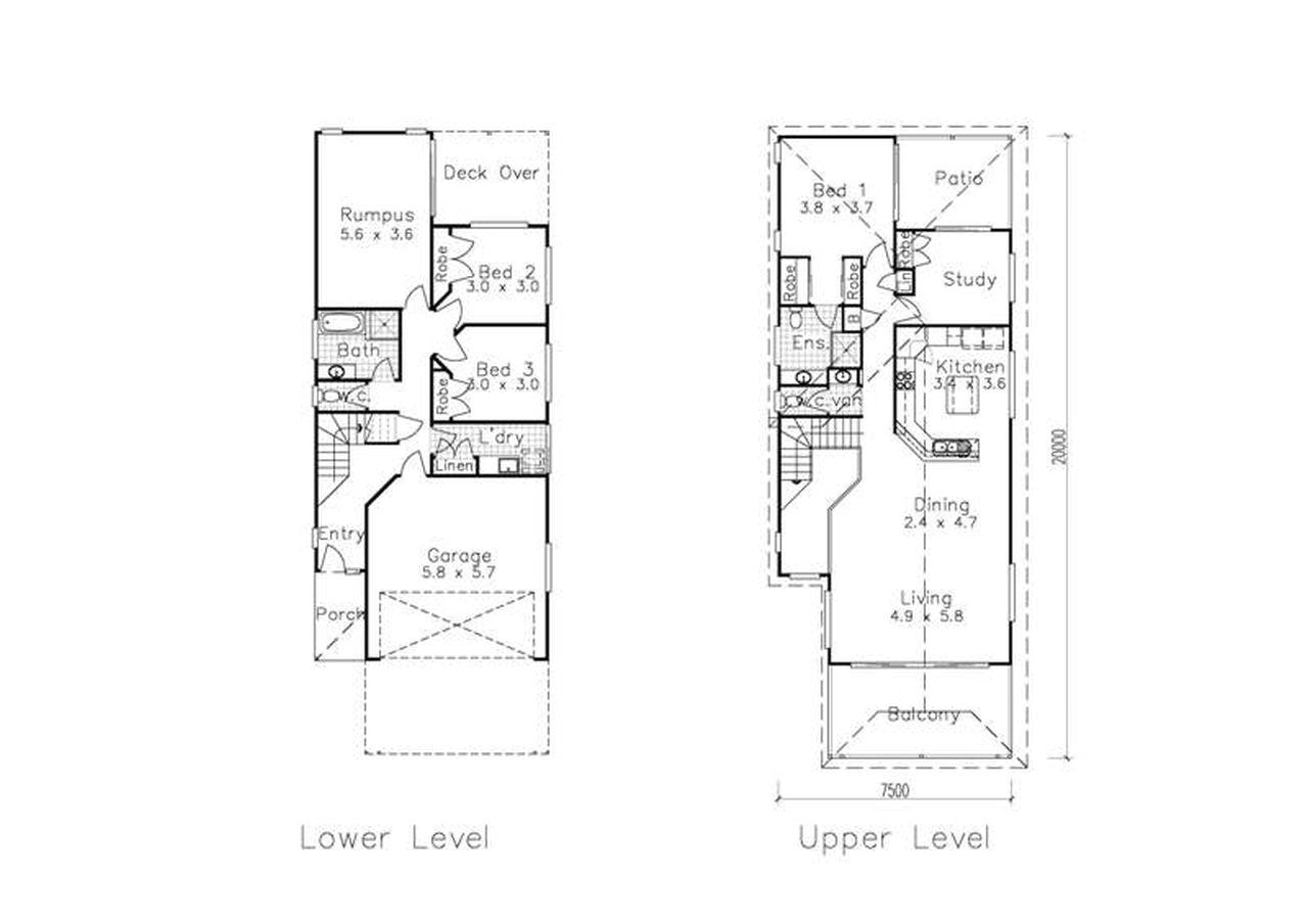 Narrow Home Plans Narrow Lot House Plans at Pleasing for Lots Best with