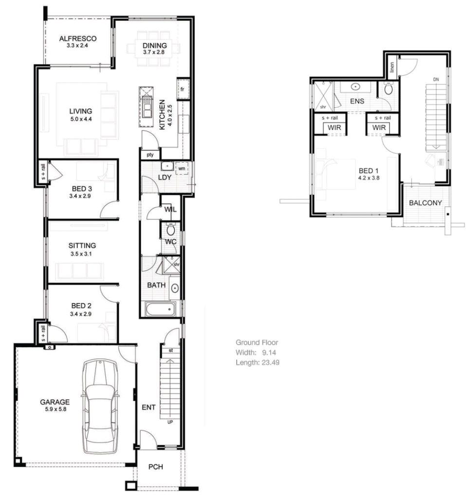 house plans narrow lot luxury