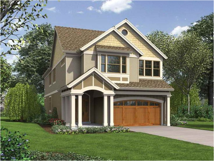 house plans for narrow lots on lake