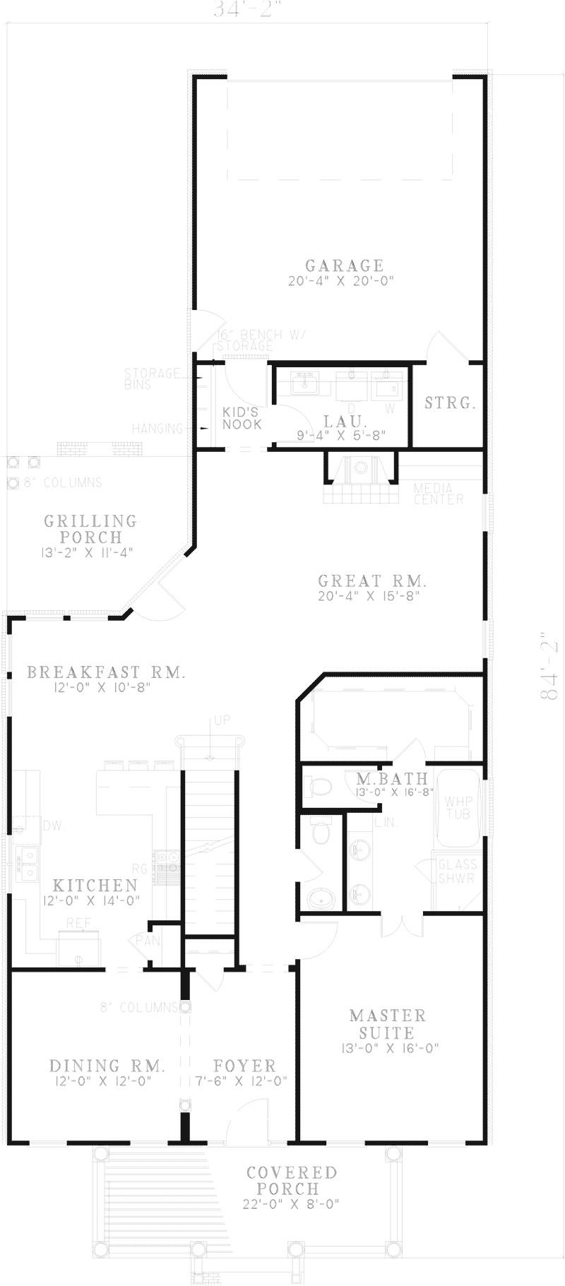 house plans narrow lot rear entry garage