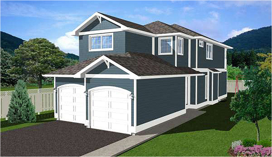 Narrow Lot House Plans with Side Entry Garage Narrow Lot Home Plan with Side Entry 6741mg 2nd Floor