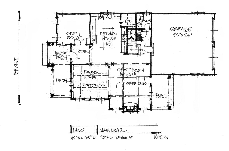 narrow lot rear entry garage house plans
