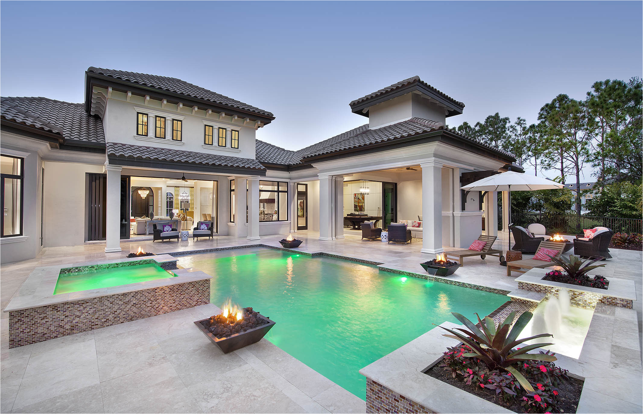new model home designed by naples architect