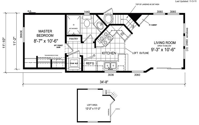 14x70 mobile home floor plan