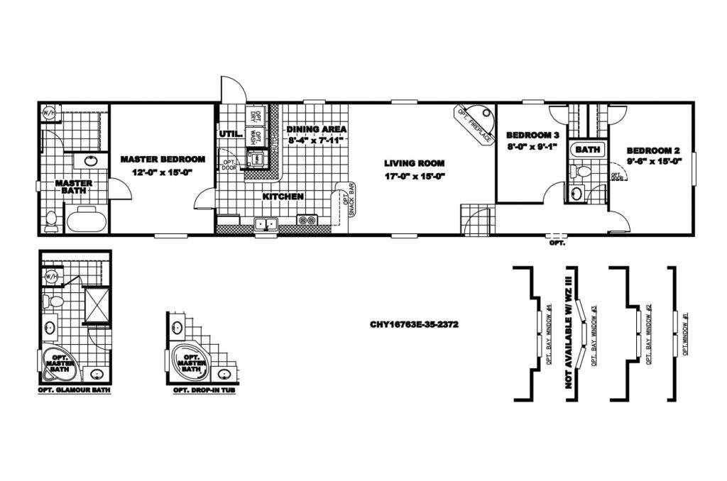 18 x 80 mobile home floor plans