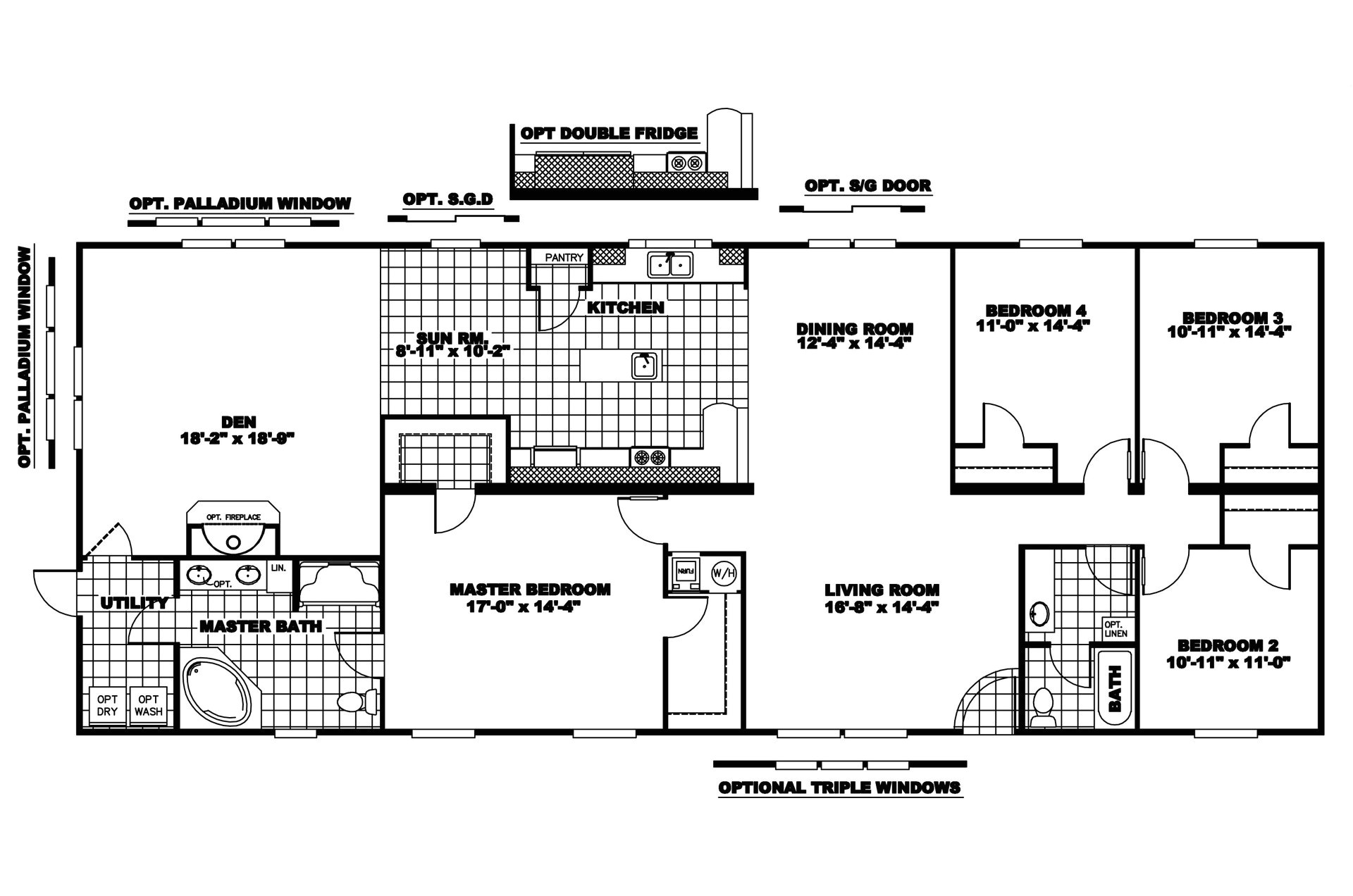 manufactured home floor plan clayton riverland riv 4