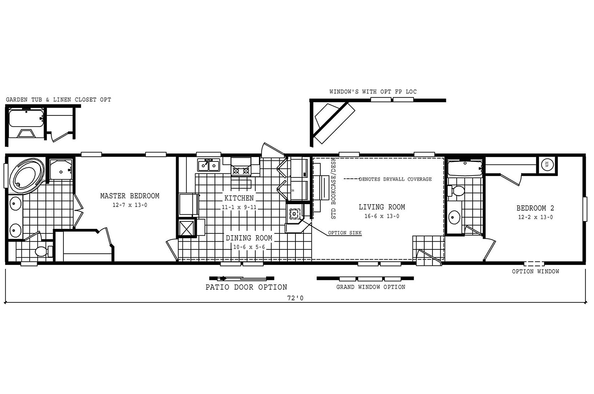oakwood mobile home floor plans manufacturedhomefloorplans 231038
