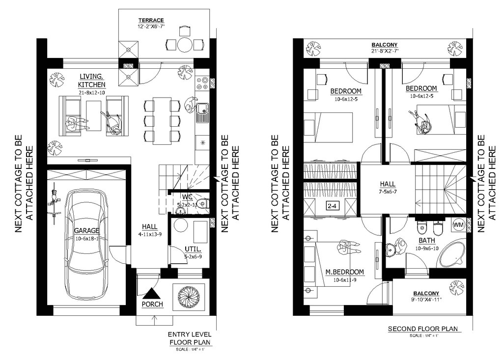 1000 square feet 3 bedrooms 1 5 bathroom modern house plan 1 garage 37008