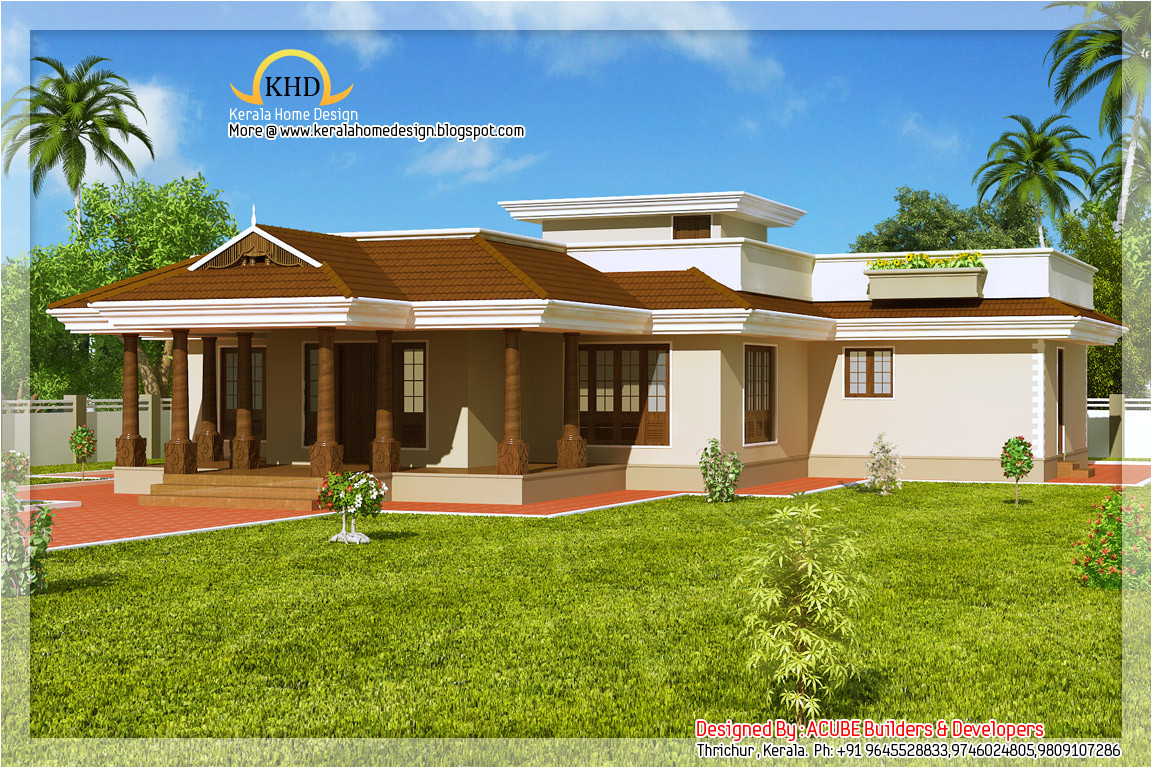 kerala style single floor house 2165 sq