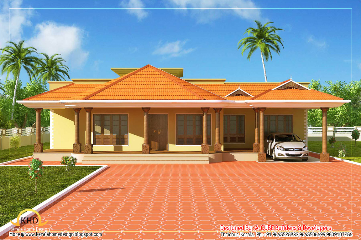 kerala style single floor house 2500 sq