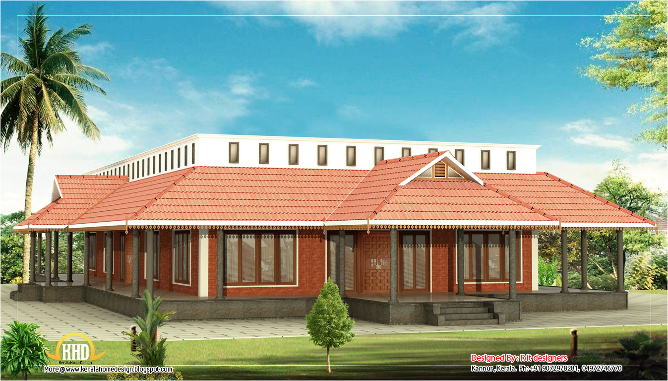 kerala style single floor house 3205 sq
