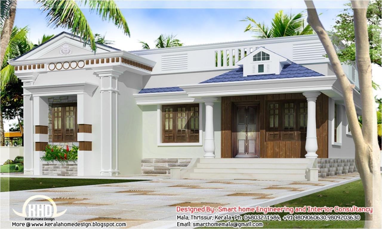 11998d55bdc06cea one story bungalow floor plans kerala style single storey house design