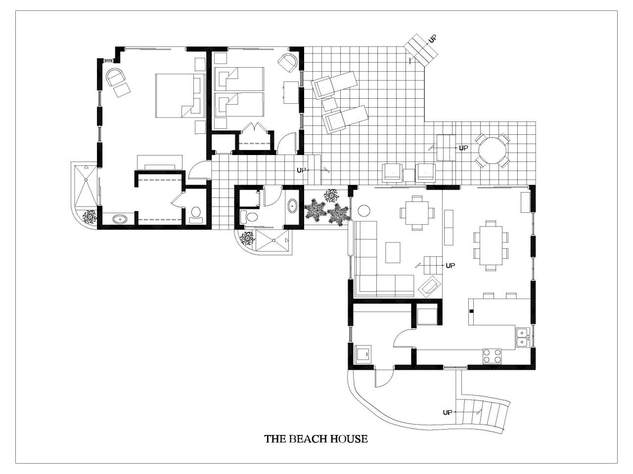 One Level Beach House Plans Beach House Floor Plan Beach House Plans One Story Beach
