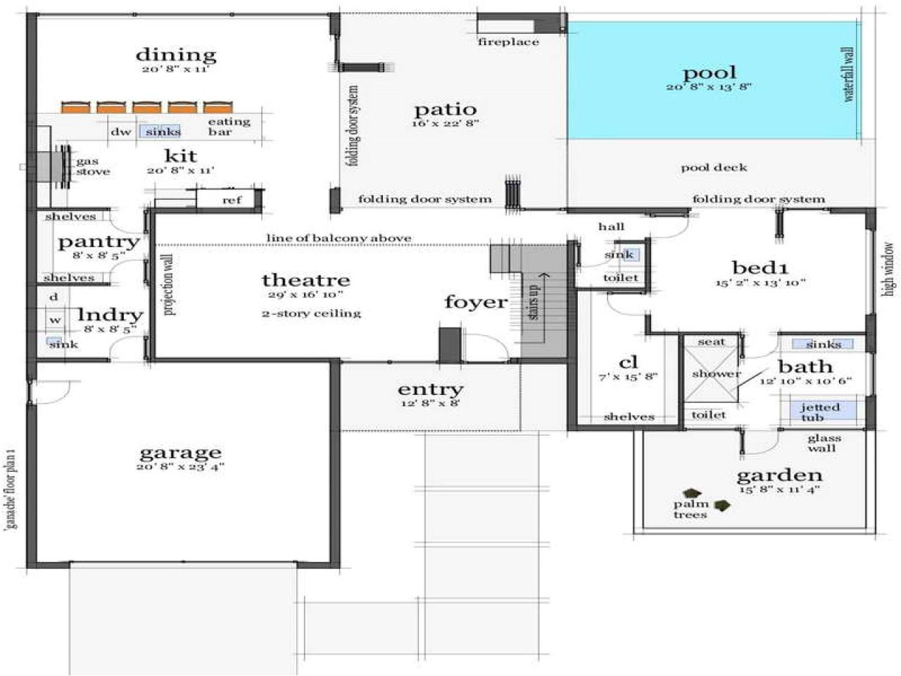 open floor plans for beach house