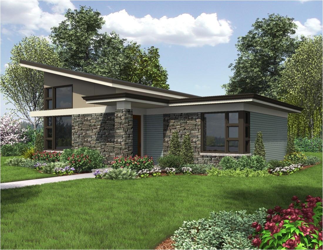 contemporary house plan single story dunland