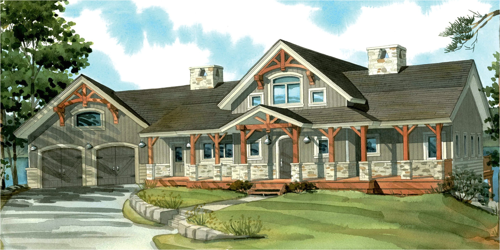 One Level Home Plans with Porches One Floor House Plans with Porches