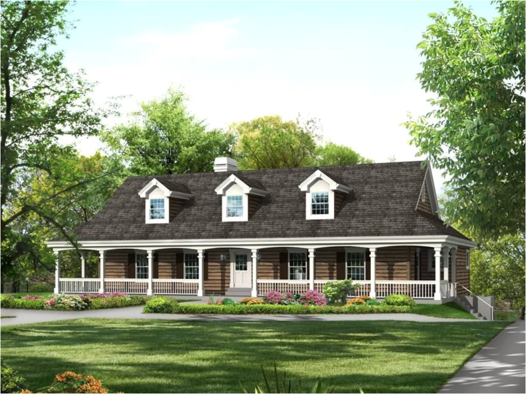 3498 one level house plans with front porch