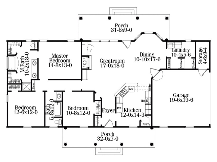 house plans one level with basement