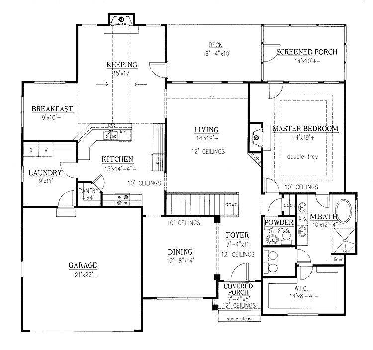 one level home plans