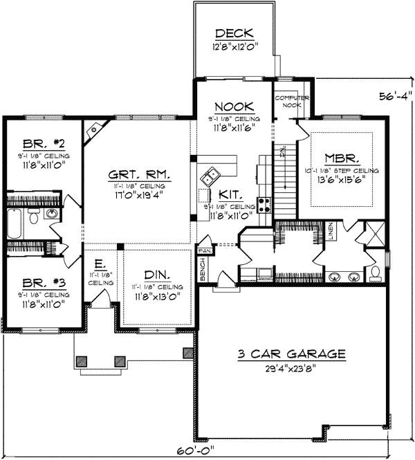 one level house plans with no basement inspirational e level house plans with no basement basements ideas