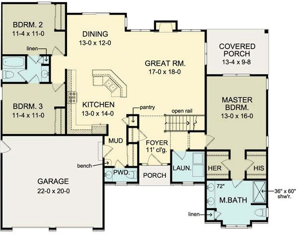 one level house plans with no basement unique first floor plan of ranch house plan move garage back 2