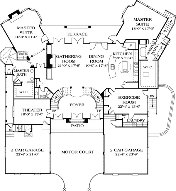 One Level House Plans with Two Master Suites Dual Master Suites 17647lv 1st Floor Master Suite