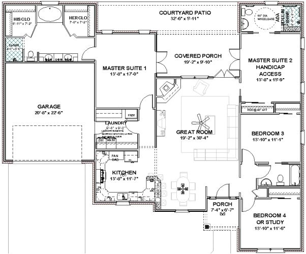 house plans with 2 master bedrooms