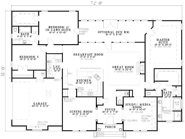 One Level House Plans with Two Master Suites Two Master Suites 59638nd Architectural Designs
