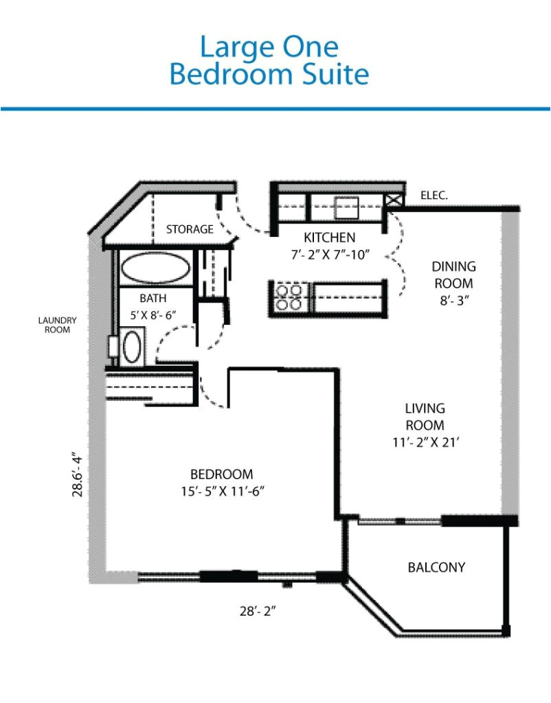 large one bedroom house plans