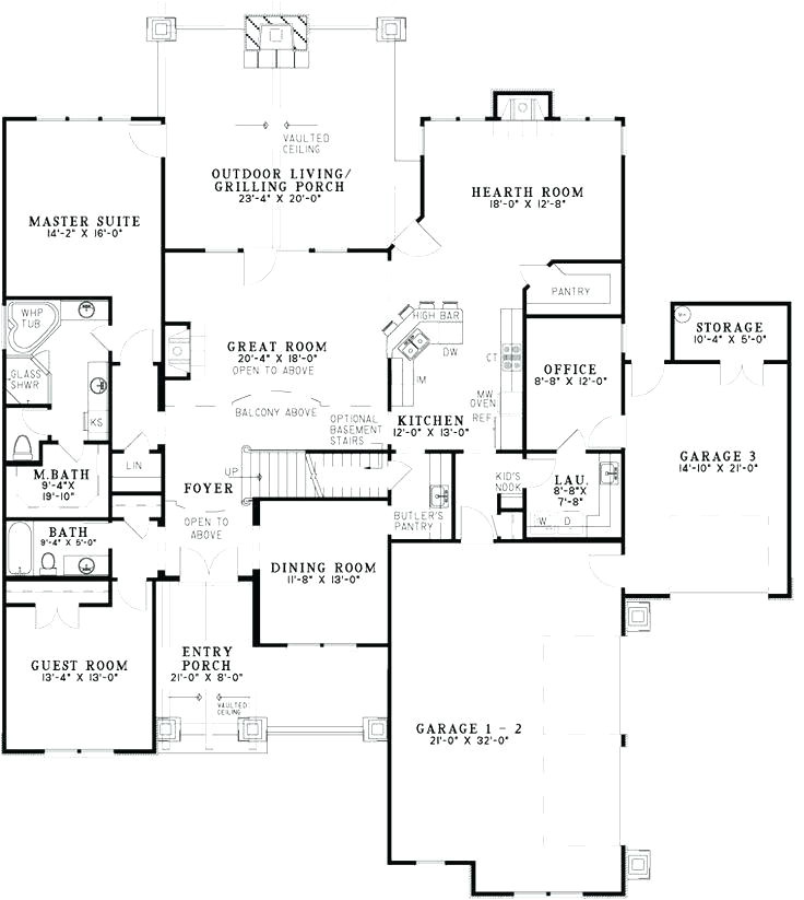 house plans with no formal dining room