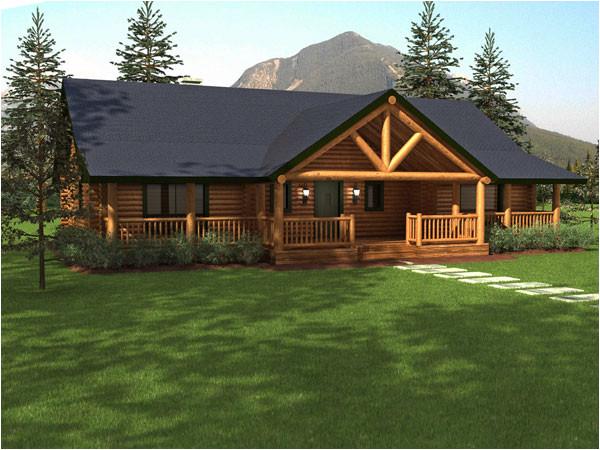 sequoia log home floor plan