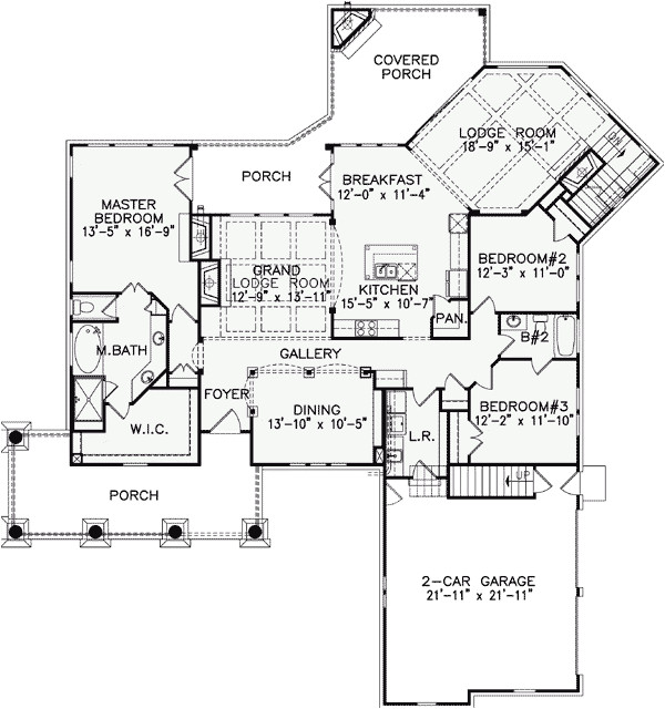 one story luxury home floor plans
