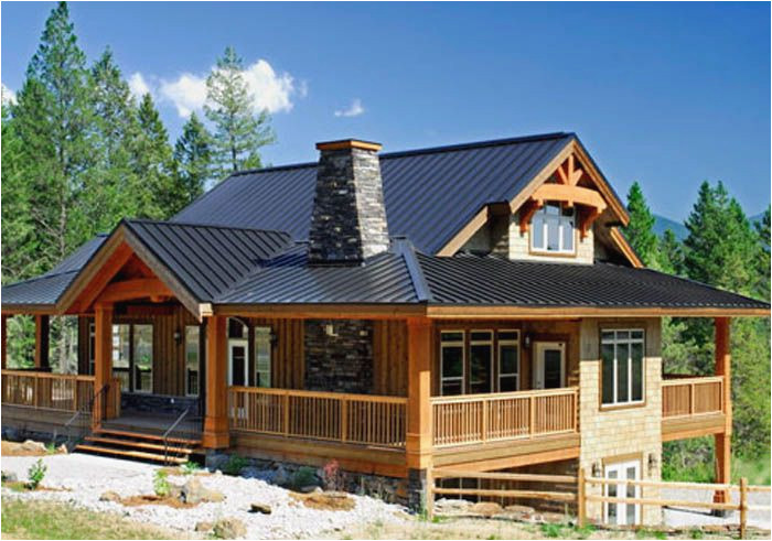 single story post and beam homes