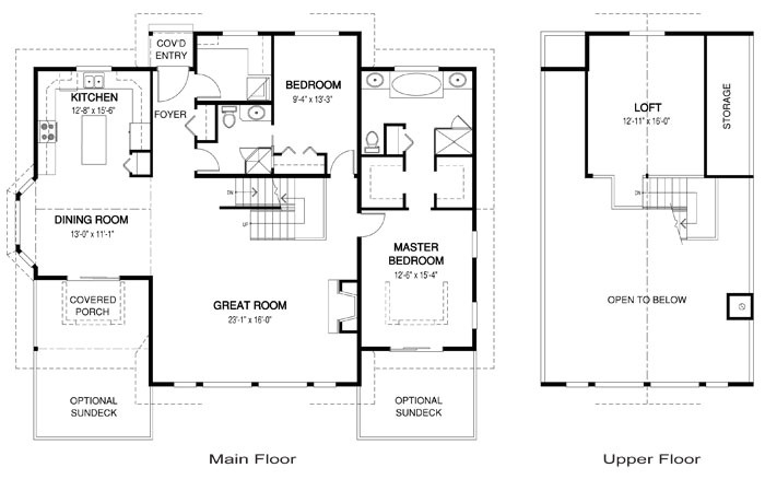 open concept cabin floor plans