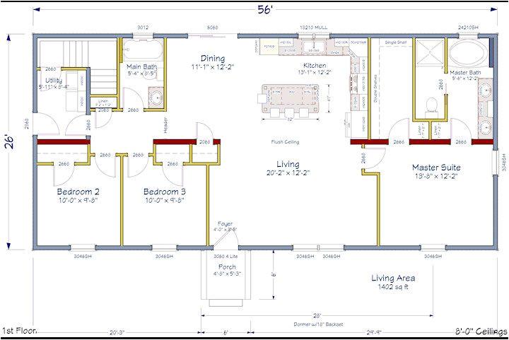 Open Concept Ranch Home Plans Ranch House Plans with Open Concept Cottage House Plans