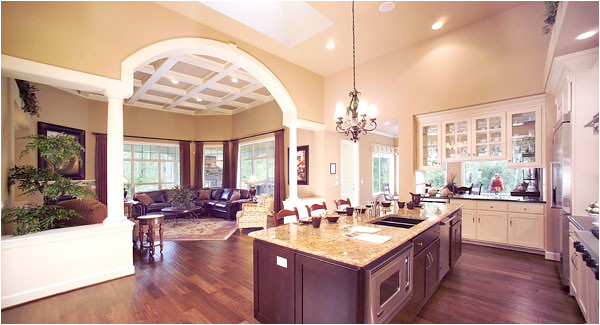 one story house plans with gourmet kitchen