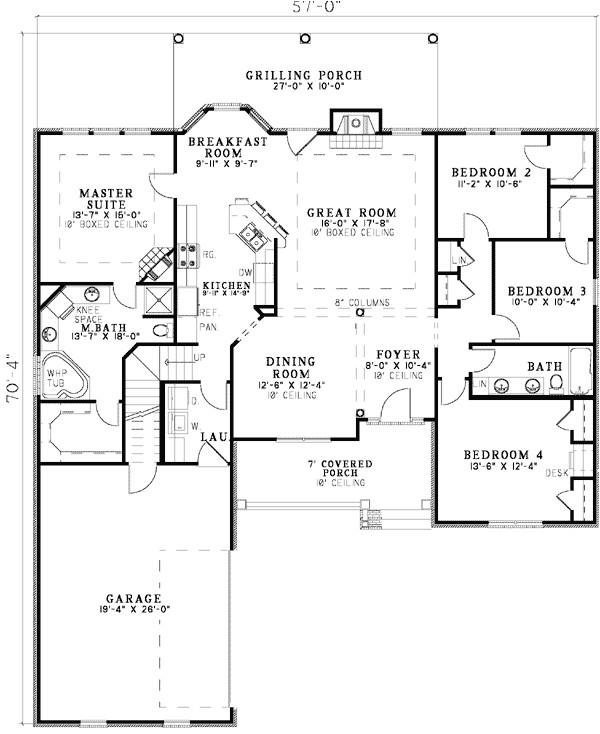open floor plan ranch plans