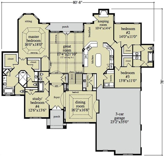 Open Floor Plan Ranch Style Homes Open Ranch Style Floor Plans Ranch House Plans