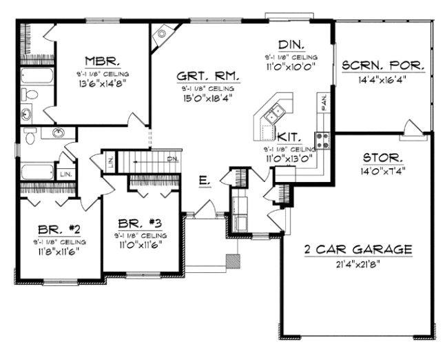 elegant simple open floor plan homes